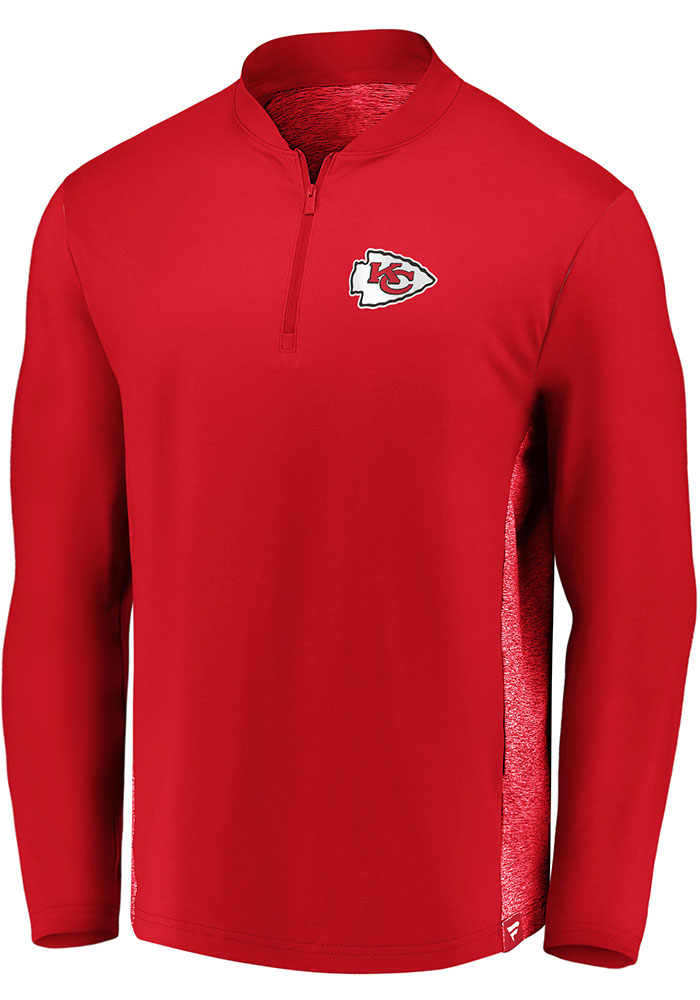 Kansas City Chiefs Iconic Clutch 1/4 Zip Pullover - Red