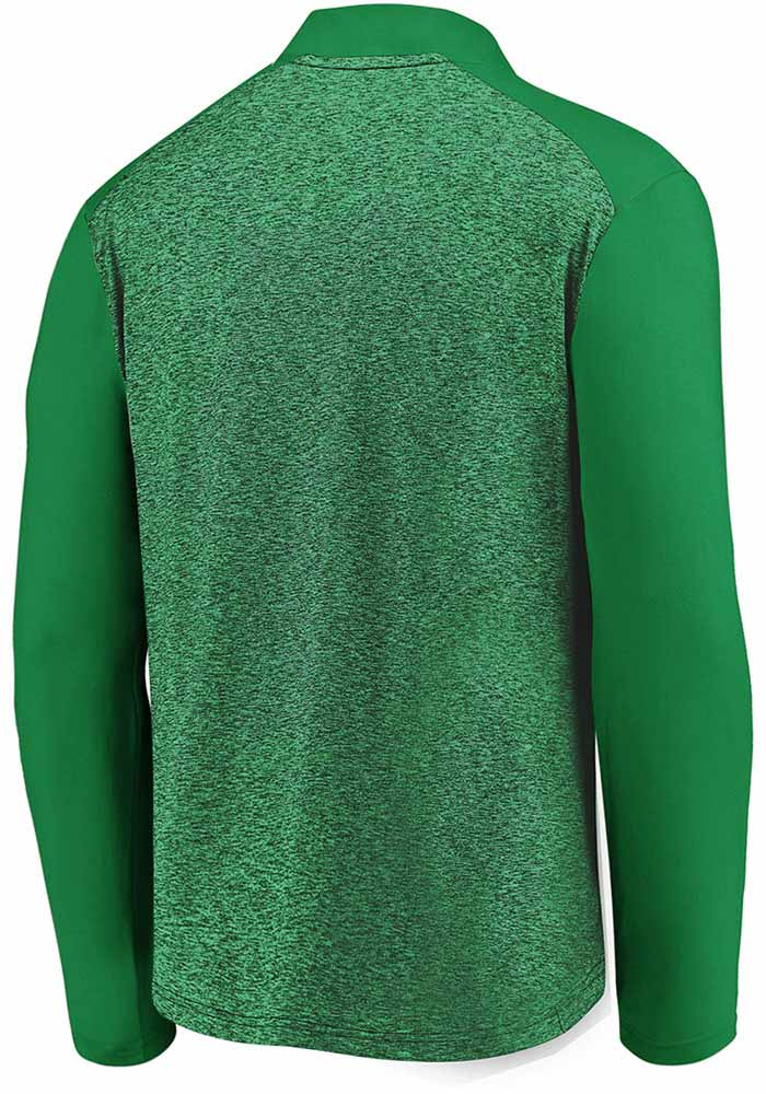 Dallas Stars Mens Green Iconic Clutch Long Sleeve 1/4 Zip Pullover - Image 2