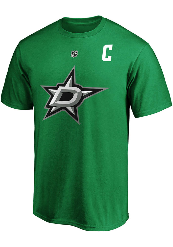 Jamie Benn Dallas Stars Green Authentic Stack Short Sleeve Player T Shirt - Image 2