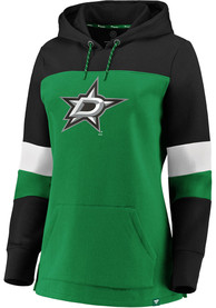 Dallas Stars Womens Iconic Hooded Sweatshirt - Green