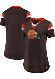 Cleveland Browns Womens Brown Athena T-Shirt