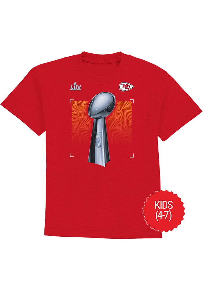Kansas City Chiefs Boys Red Super Bowl LIV Champions Short Sleeve T-Shirt - Image 1