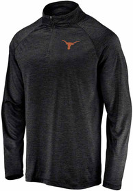 Texas Longhorns Primary Logo 1/4 Zip Pullover - Black