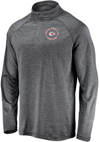 Kansas City Chiefs Super Bowl LIV Champions Motion 1/4 Zip Pullover - Grey