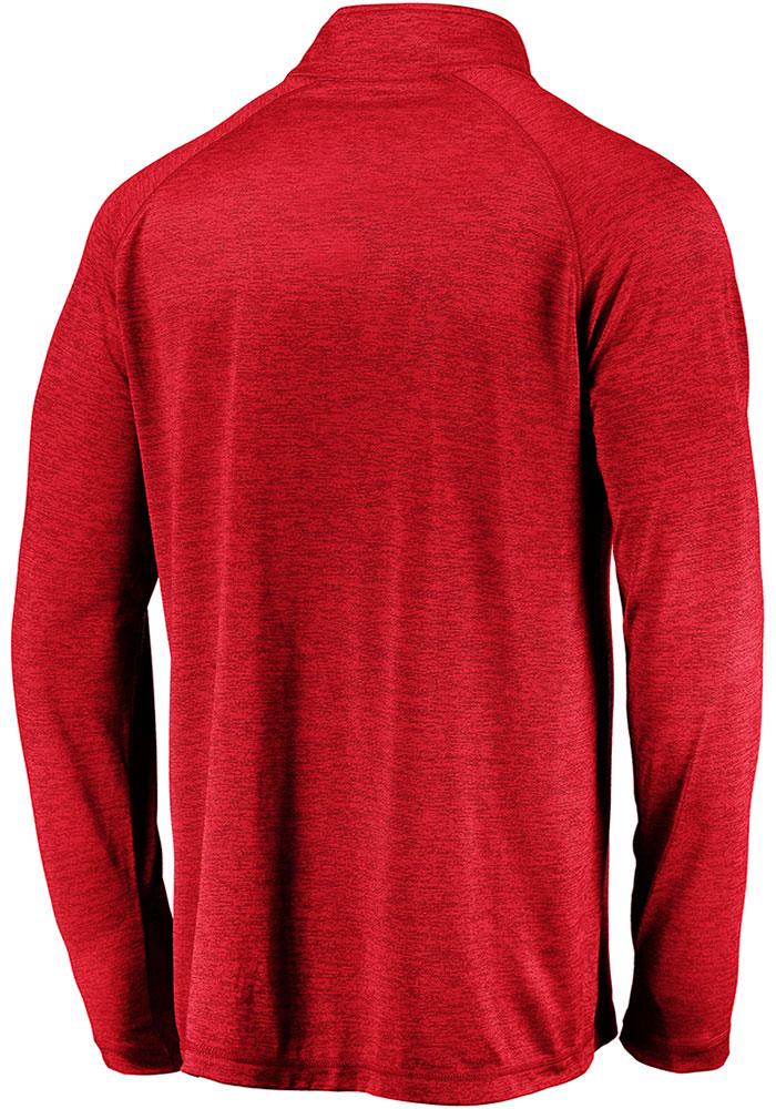 Kansas City Chiefs Mens Red Super Bowl LIV Champions Replay Long Sleeve 1/4 Zip Pullover - Image 2