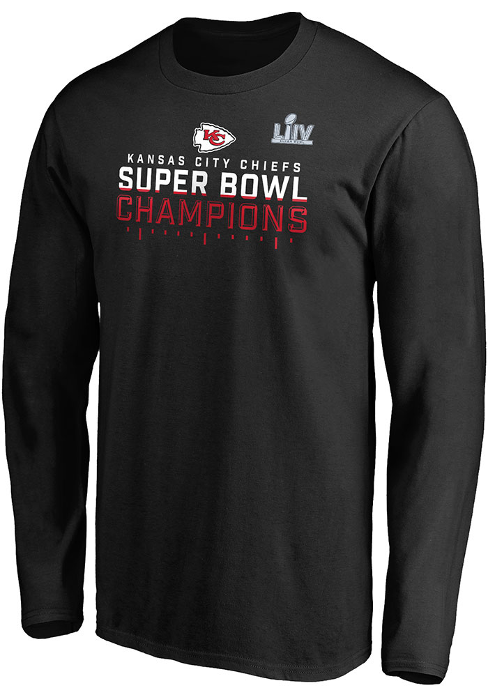 Kansas City Chiefs Black Super Bowl LIV Champions Hurry Up - SIGNATURE Long Sleeve T Shirt - Image 1