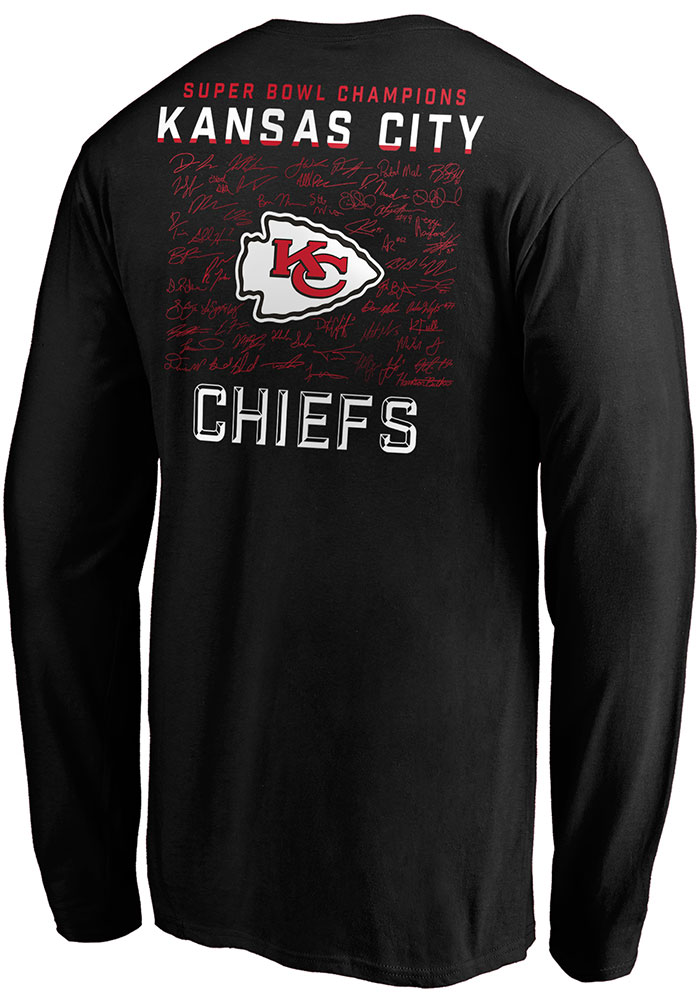 Kansas City Chiefs Black Super Bowl LIV Champions Hurry Up - SIGNATURE Long Sleeve T Shirt - Image 2