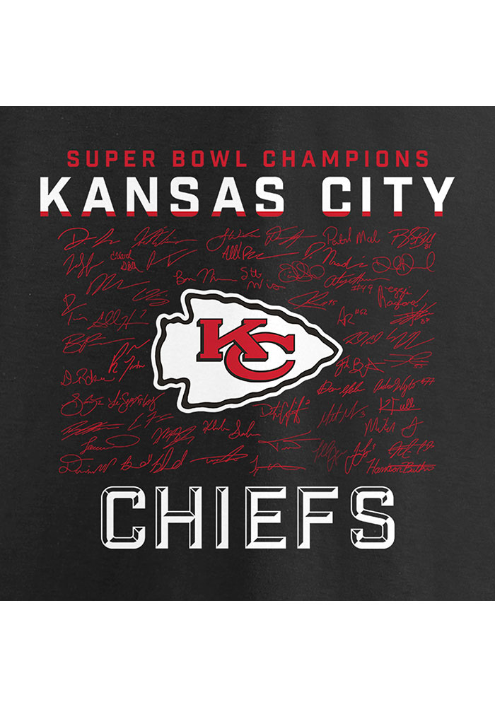 Kansas City Chiefs Black Super Bowl LIV Champions Hurry Up - SIGNATURE Long Sleeve T Shirt - Image 3