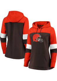 Cleveland Browns Womens Colorblock Hooded Sweatshirt - Brown
