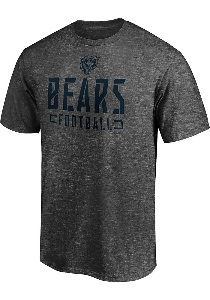 Chicago Bears Stencil T Shirt - Charcoal