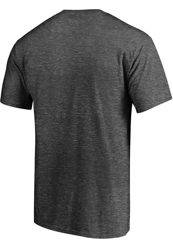Chicago Bears Charcoal Stencil Short Sleeve T Shirt - Image 2
