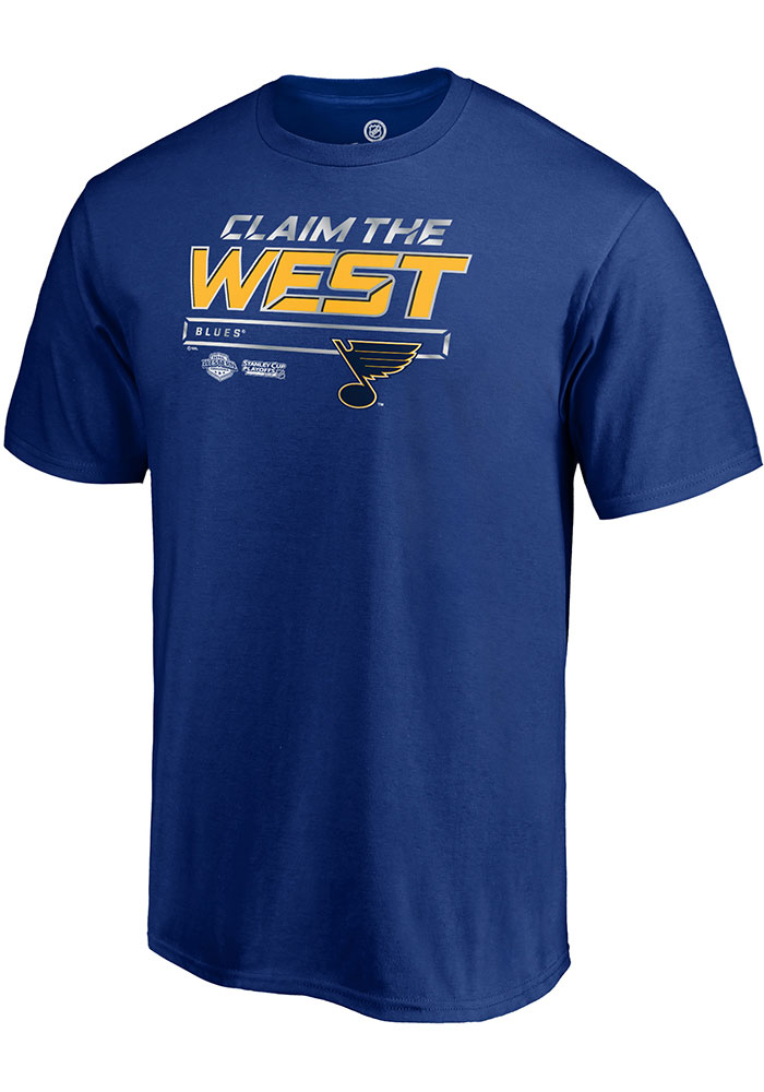 St Louis Blues Blue Crease 2019 Conference Final Short Sleeve T Shirt - Image 1