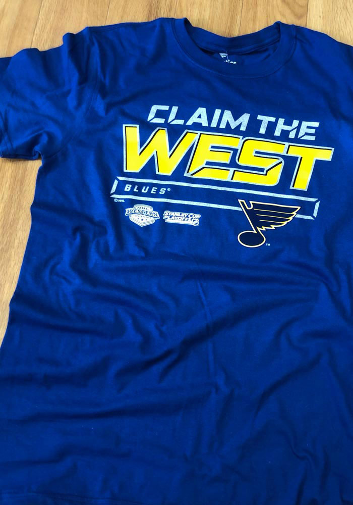 St Louis Blues Blue Crease 2019 Conference Final Short Sleeve T Shirt - Image 3
