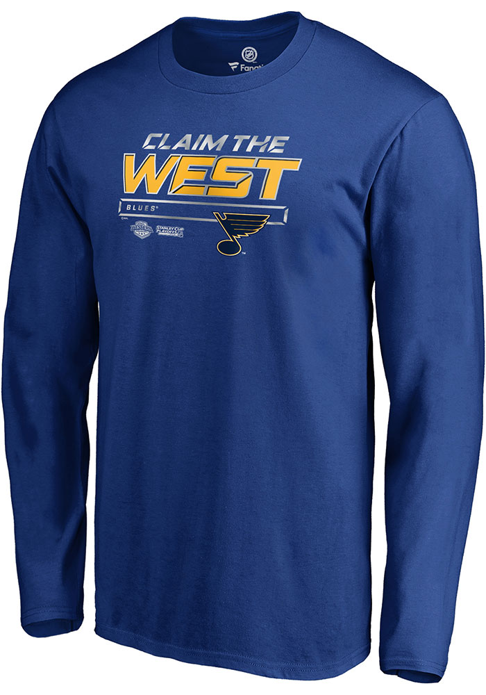 St Louis Blues Blue Crease 2019 Conference Final Long Sleeve T Shirt - Image 1