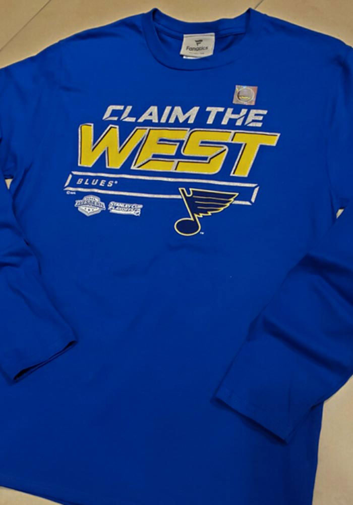 St Louis Blues Blue Crease 2019 Conference Final Long Sleeve T Shirt - Image 3