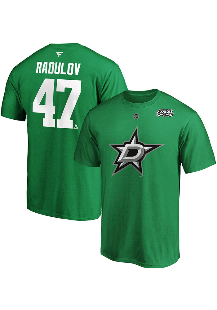 Alexander Radulov Dallas Stars Kelly Green 2020 Stanley Cup Final Participant Angle Play Short Sleeve Player T Shirt - Image 3