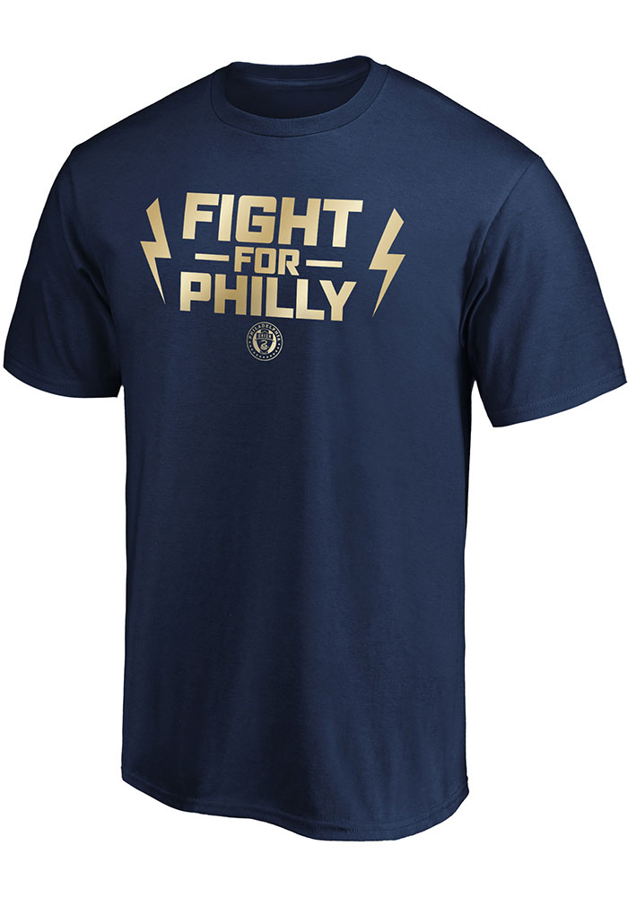 Philadelphia Union Navy Blue Team Slogan Postseason Participant Short Sleeve T Shirt - Image 1