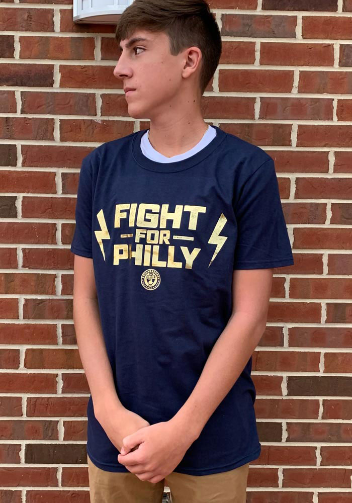 Philadelphia Union Navy Blue Team Slogan Postseason Participant Short Sleeve T Shirt - Image 3
