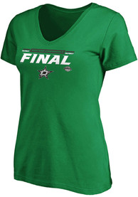 Dallas Stars Womens 2020 NHL Conference Final Participant Overdrive T-Shirt - Kelly Green
