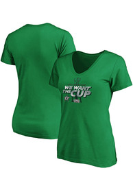 Dallas Stars Womens 2020 Stanley Cup Final Participant T-Shirt - Kelly Green