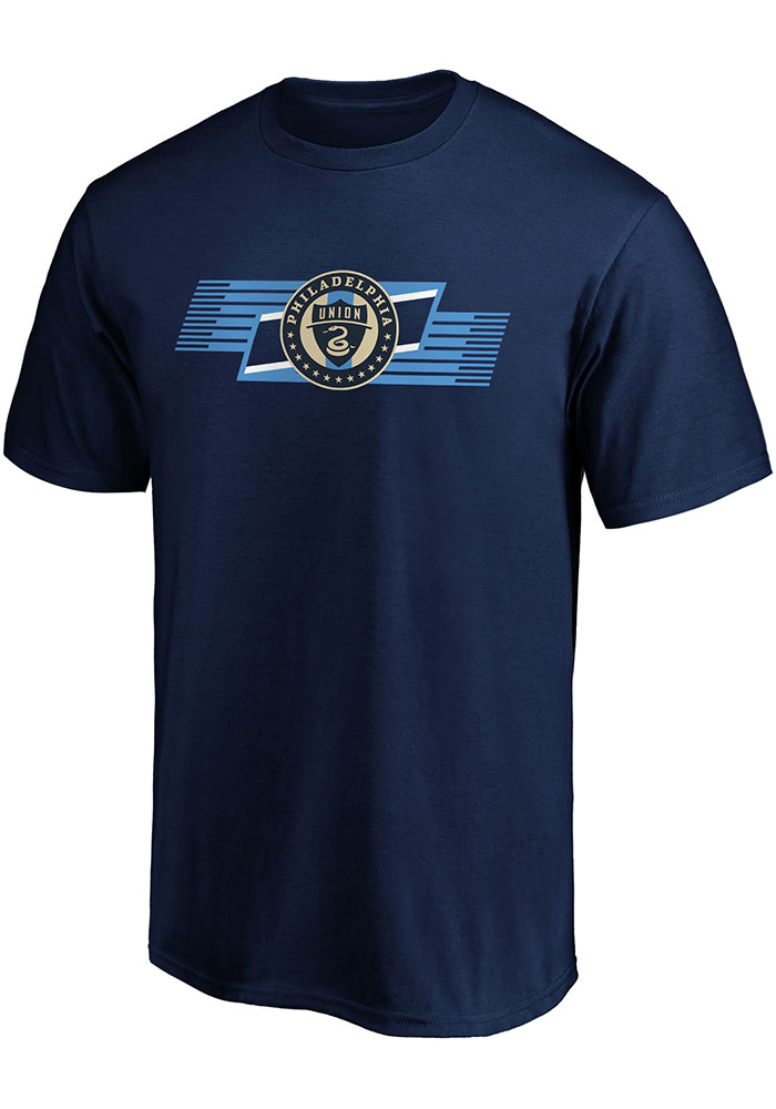 Philadelphia Union Iconic Angular T Shirt - Navy Blue