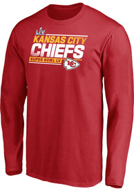Kansas City Chiefs Super Bowl LV Partic Play Action Roster T Shirt - Red