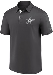 Dallas Stars Mens Charcoal Authentic Pro Short Sleeve Polo