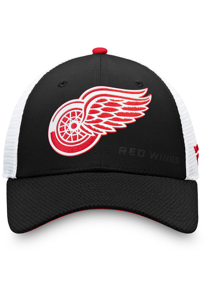 Detroit Red Wings 2019 Authentic Pro Rinkside Structured Meshback Adjustable Hat - Black - Image 3