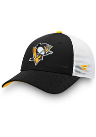 Pittsburgh Penguins 2019 Authentic Pro Rinkside Structured Meshback Adjustable Hat - Black