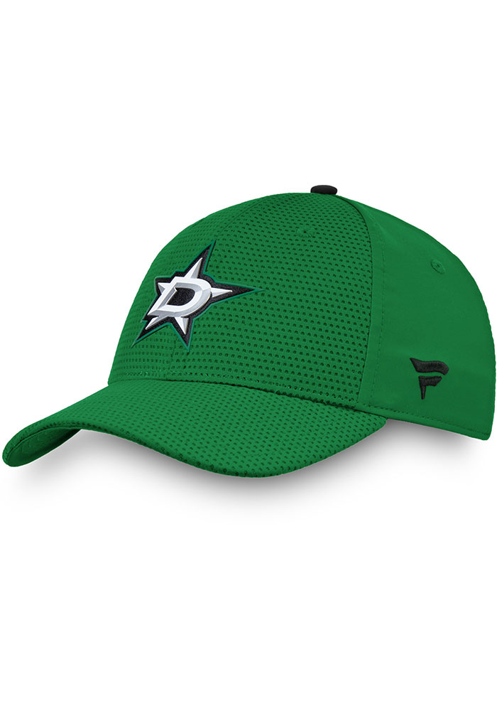 Dallas Stars Mens Green 2019 Authentic Pro Rinkside Structured Flex Hat - Image 1