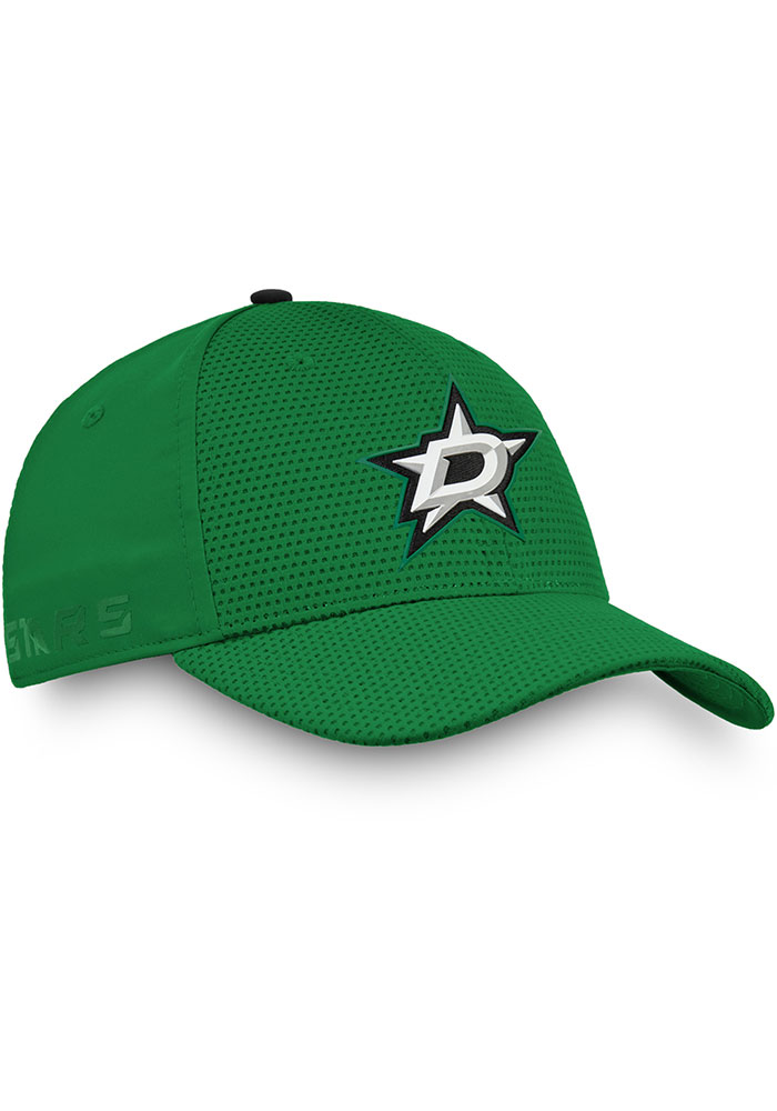 Dallas Stars Mens Green 2019 Authentic Pro Rinkside Structured Flex Hat - Image 2