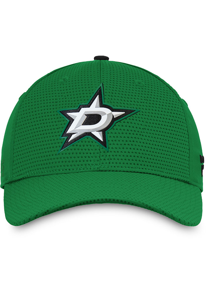 Dallas Stars Mens Green 2019 Authentic Pro Rinkside Structured Flex Hat - Image 3
