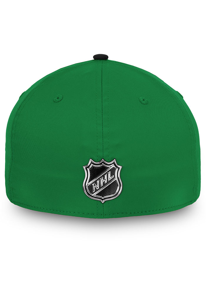 Dallas Stars Mens Green 2019 Authentic Pro Rinkside Structured Flex Hat - Image 4