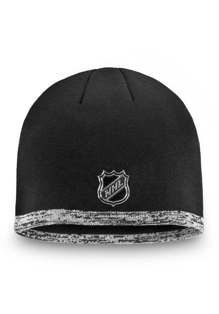 Detroit Red Wings Black 2019 Authentic Pro Rinkside Beanie Mens Knit Hat - Image 2