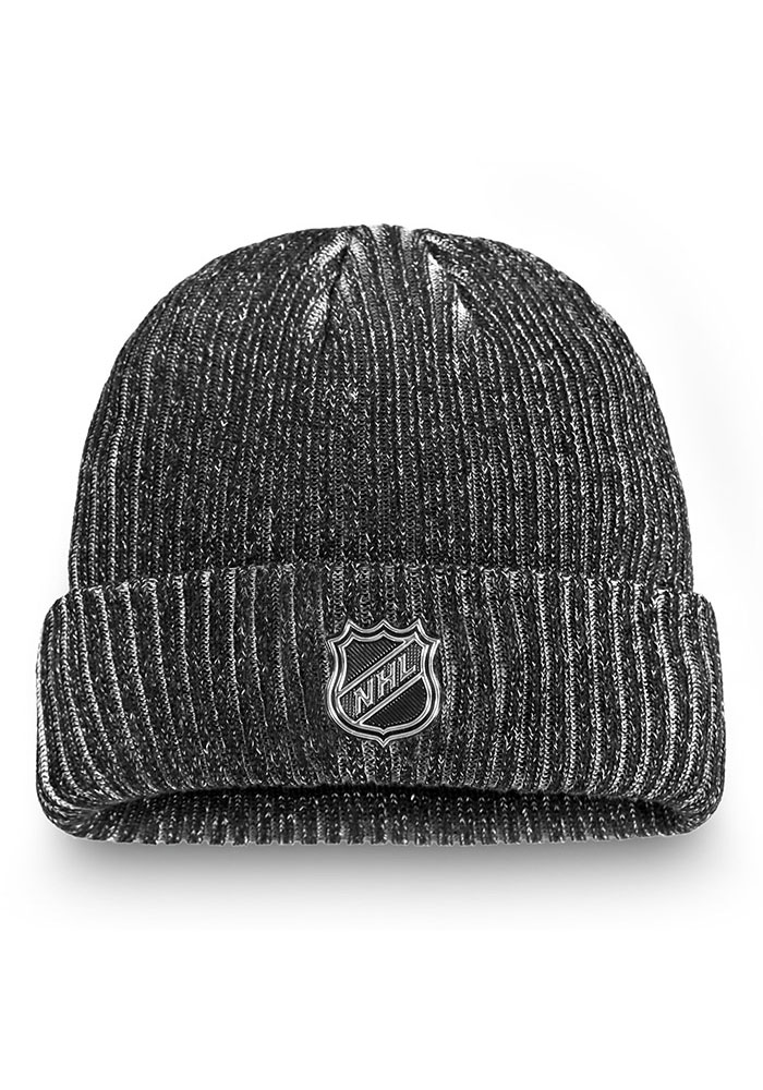 Detroit Red Wings Black 2019 Authentic Pro Rinkside Cuff Mens Knit Hat - Image 2