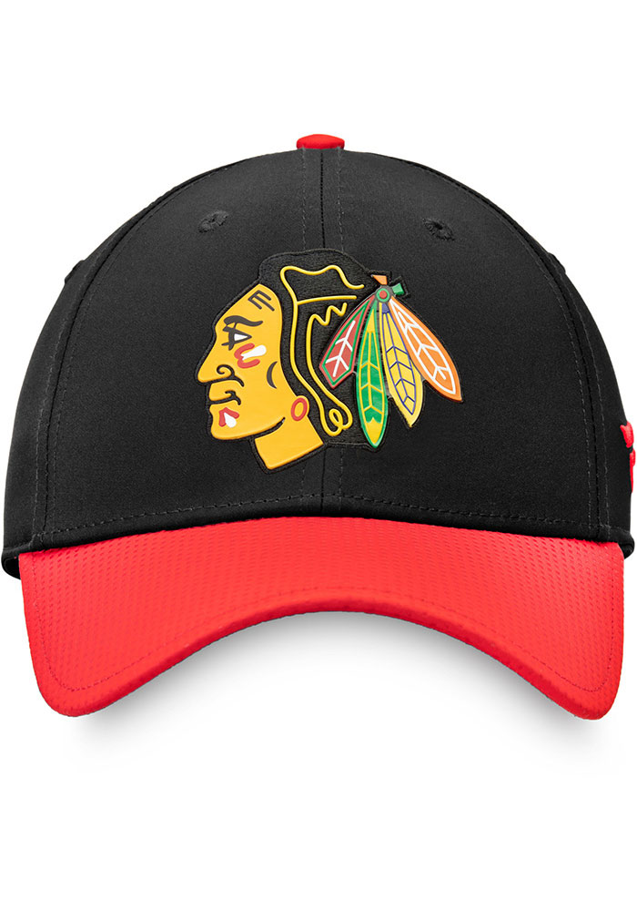 Chicago Blackhawks Mens Black 2019 NHL Draft Structured Flex Hat - Image 2