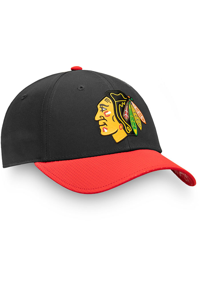 Chicago Blackhawks Mens Black 2019 NHL Draft Structured Flex Hat - Image 3