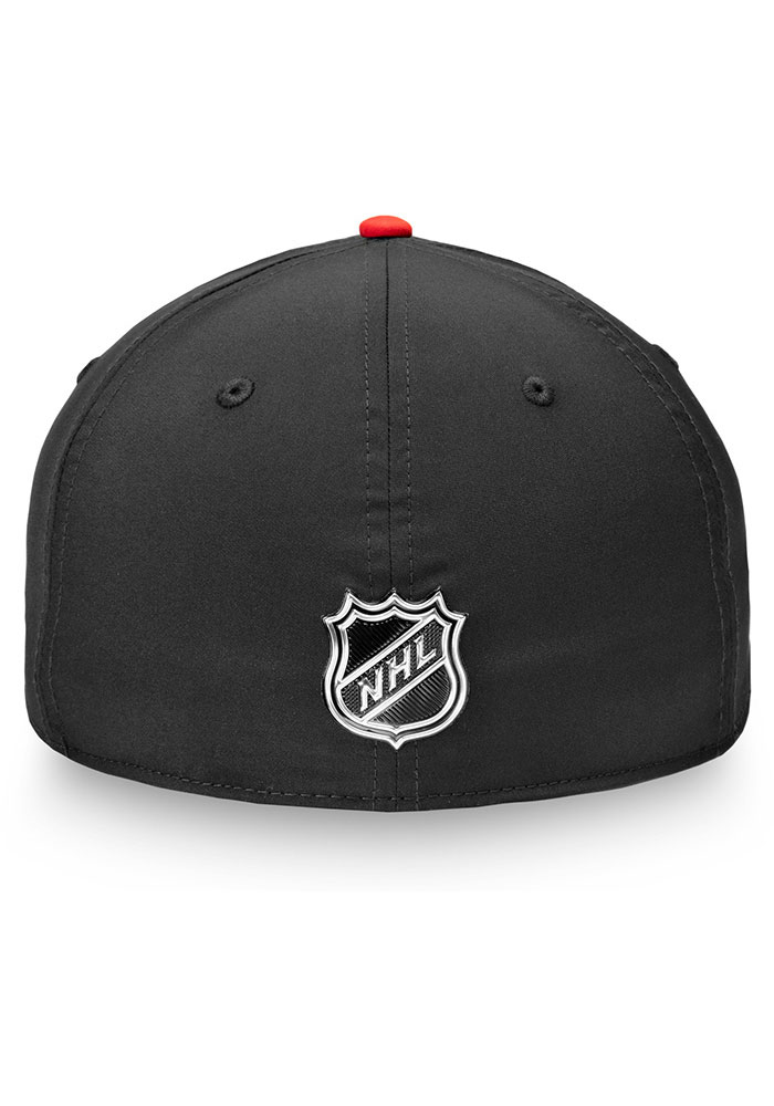 Chicago Blackhawks Mens Black 2019 NHL Draft Structured Flex Hat - Image 4