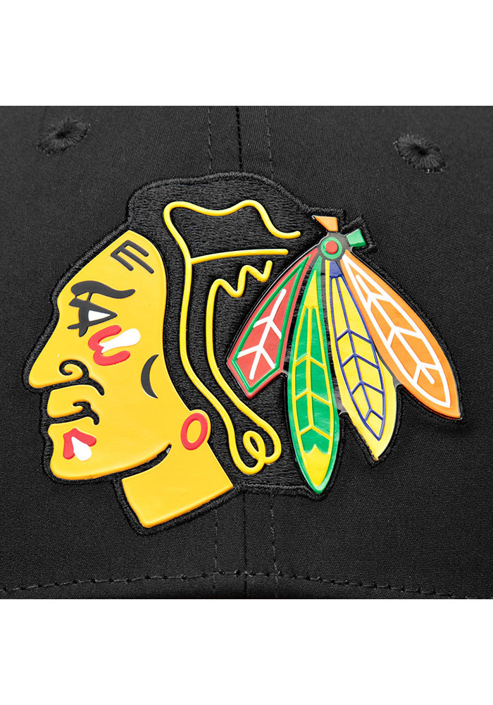 Chicago Blackhawks Mens Black 2019 NHL Draft Structured Flex Hat - Image 6
