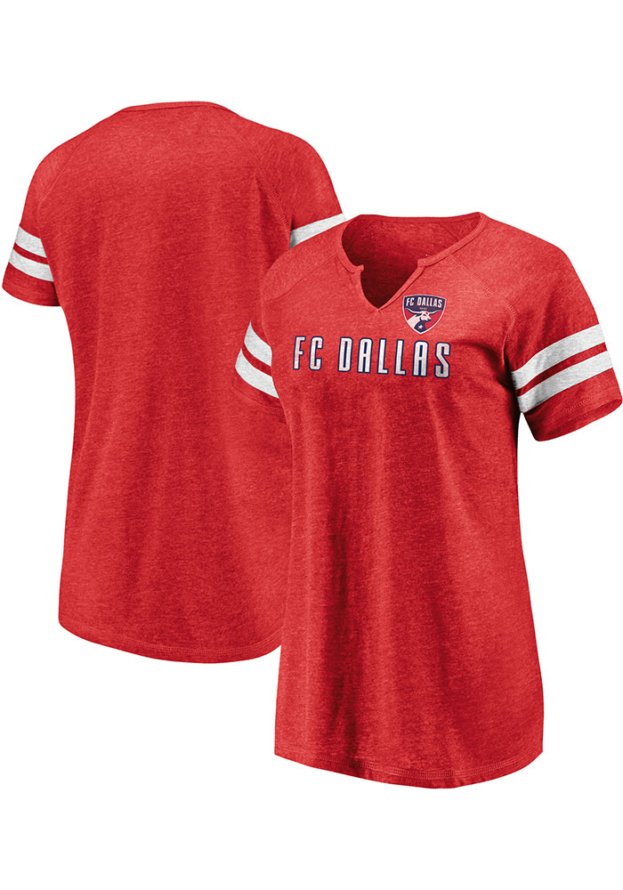 FC Dallas Womens Red Triblend Short Sleeve T-Shirt - Image 1