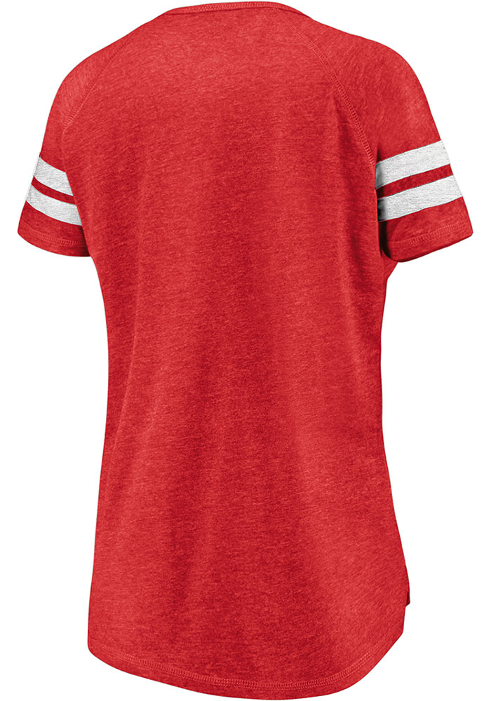 FC Dallas Womens Red Triblend Short Sleeve T-Shirt - Image 3