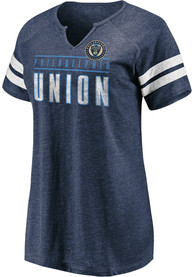 Philadelphia Union Womens Triblend T-Shirt - Navy Blue