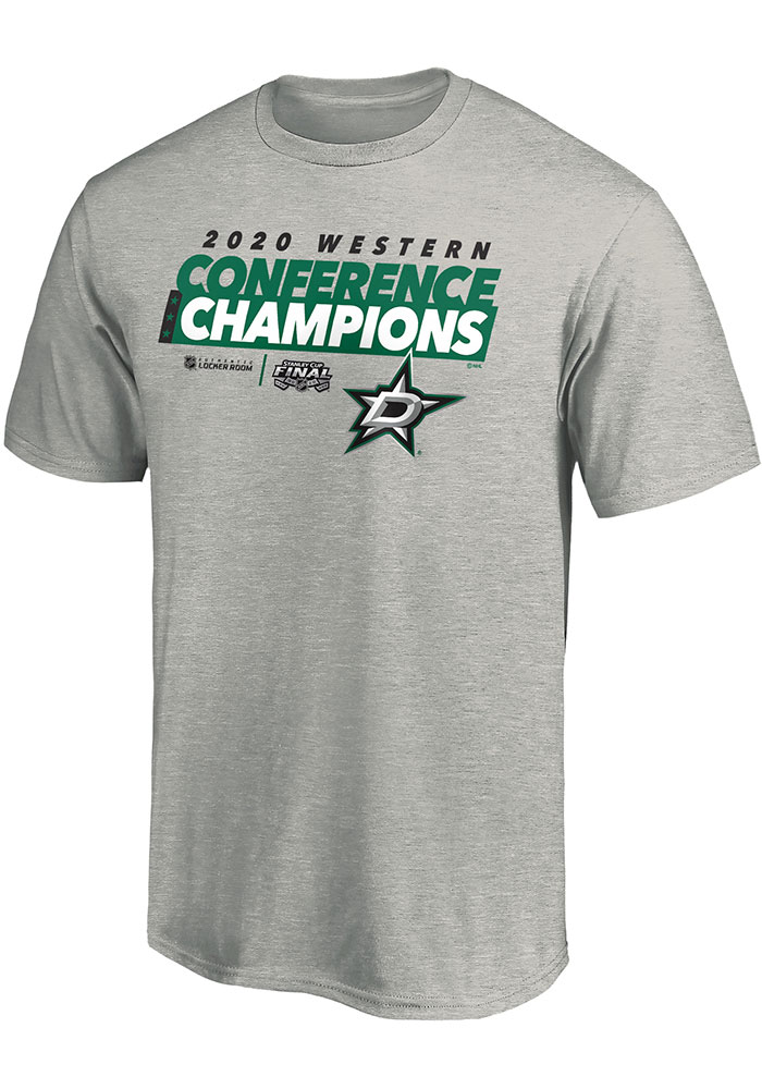 Dallas Stars 2020 NHL Conference Champs Locker Room T Shirt - Grey