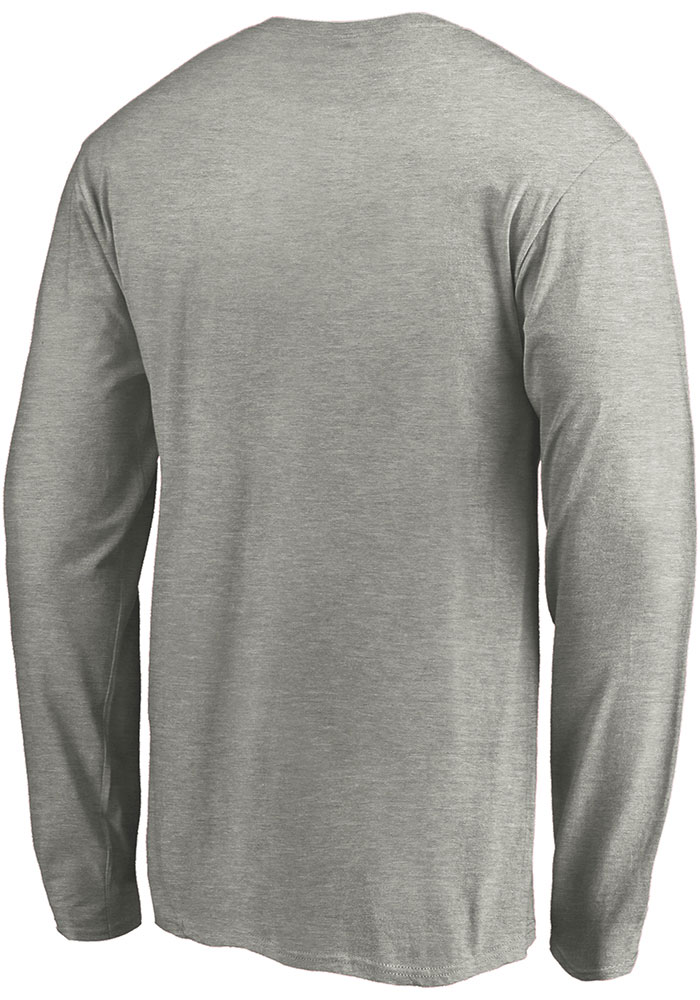 Dallas Stars Grey 2020 NHL Conference Champs Locker Room Long Sleeve T Shirt - Image 2