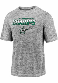 Dallas Stars 2020 NHL Conference Champs Blue Line T Shirt - Grey