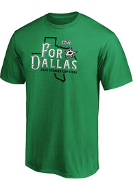 Dallas Stars 2020 Stanley Cup Final Participant Home Ice T Shirt - Kelly Green