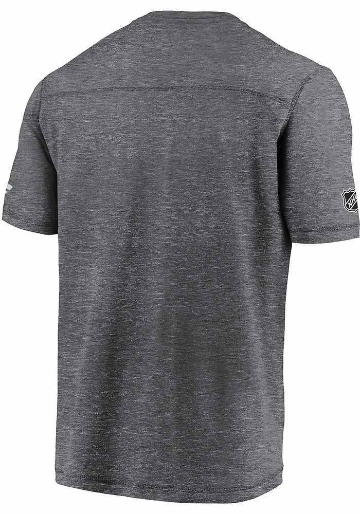 Dallas Stars Grey 2020 Stanley Cup Final Participant Authentic Pro Clutch Short Sleeve T Shirt - Image 2