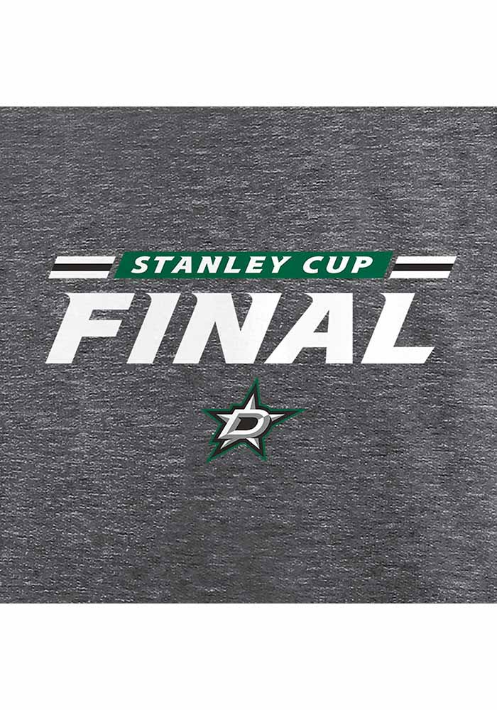 Dallas Stars Grey 2020 Stanley Cup Final Participant Authentic Pro Clutch Short Sleeve T Shirt - Image 4