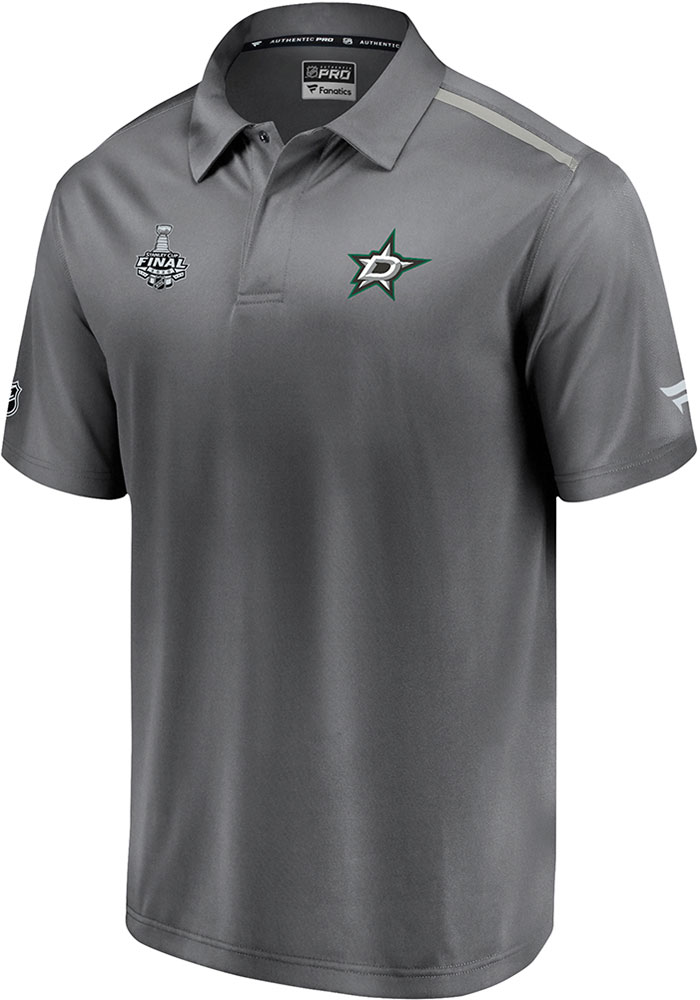 Dallas Stars 2020 Stanley Cup Final Participant Authentic Pro Rinkside Polo Shirt - Grey