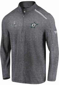 Dallas Stars 2020 Stanley Cup Final Participant Authentic Pro Clutch 1/4 Zip Pullover - Grey